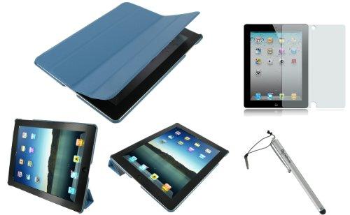 rooCASE 3n1 Ultra Slim (Blue) Leather Smart Case
