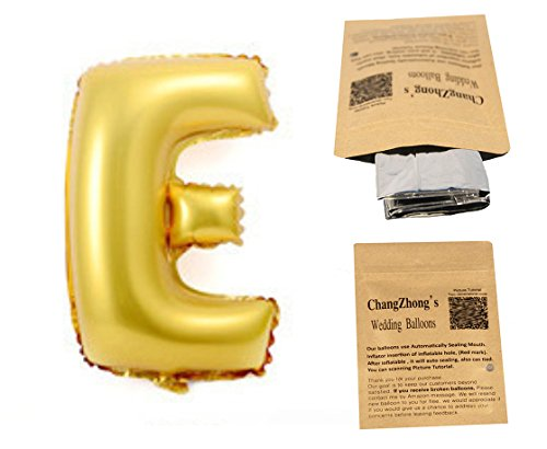 "Helium Foil letters balloons ,birthday holidays weddin party supply Golden 40""E"