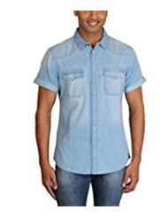 Max Exports Men's Light Blue Denim Shirt