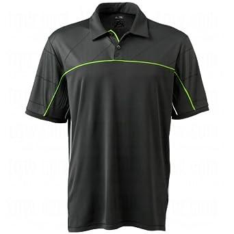 Adidas 2014 Men's Climacool Graphic Diagonal Piped Polo Shirt (Black/Gardena - M)