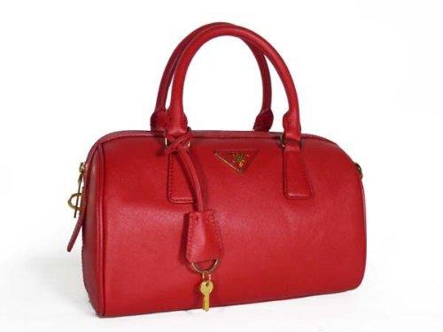 bc0e122d4801 Do NOT Miss Prada BL0797 Red Saffiano Leather Handbag | Prada Handbags