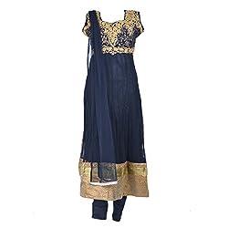 Noore Nazar Glitzy Navy Blue Half sleeve nazneen Hand Work Anarkali Dress