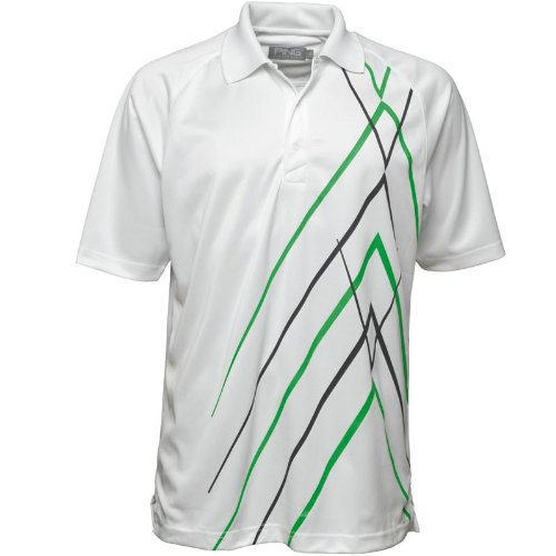 Ping Collection Mens Elric Polo White/Grass/Black