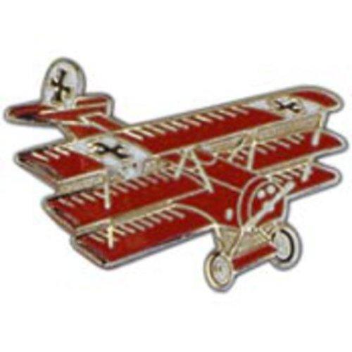 Fokker Tri-Plane Pin Red 1 5/8