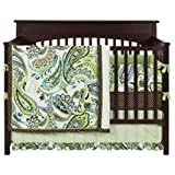 My Baby Sam Paisley Splash Baby Bedding (Lime)