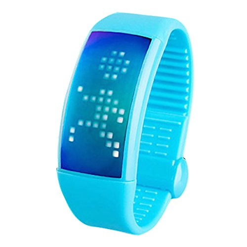 Soleasy Men'S Women'S Led Digital Dial Silicone Band Personalized Signature 3D Pedometer Smart Watch With 8G Memory Card Wth1032