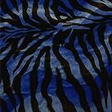 Velboa Wave Big Black & Blue Zebra 58 Inch Sold By The Yard