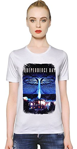 Independence Day White House T-shirt donna Women T-Shirt Girl Ladies Stylish Fashion Fit Custom Apparel By Slick Stuff Large