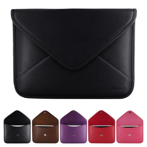 Skque Branded Envelope Style Leather Sleeve Case for 7-Inch Tablet PC like Samsung Galaxy Tab 2 P3100, Lenovo A1000/A3000, Asus FonePad, Google Nexus 7, Black at Electronic-Readers.com