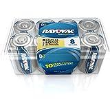 Rayovac Alkaline D Batteries, 8 batteries