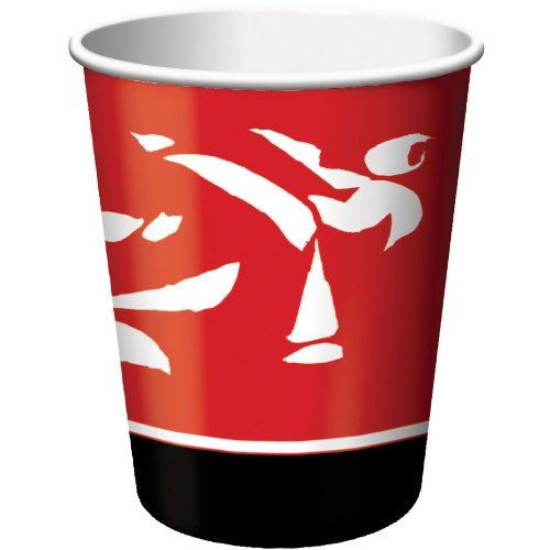 Creative Converting Black Belt Birthday 8 Count Paper Cups, 9-Ounce