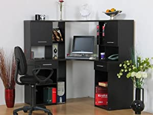 eckschreibtisch mit aufsatz eck computertisch pc tisch schreibtisch kolonial neu. Black Bedroom Furniture Sets. Home Design Ideas
