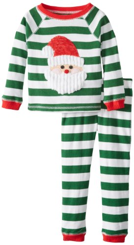 Mud Pie Boys Santa Lounge Set, Multi Colored, 2T