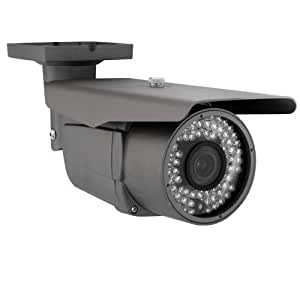 GW Security Surveillance Video 900TVL CCTV Outdoor Security Camera, 2.8-12 mm Varifocal Lens, 72 Piece LED, 196-Feet IR Distance
