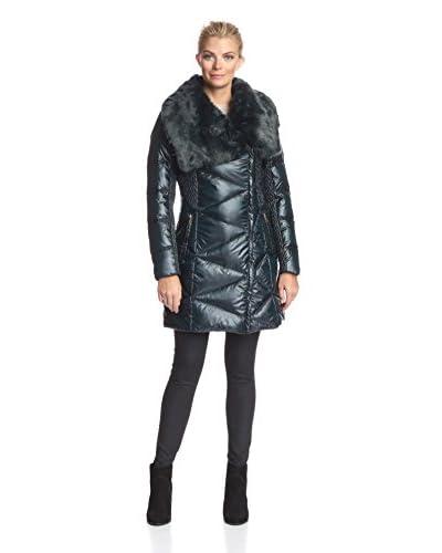 Via Spiga Women's Down Coat with Faux Fur Collar