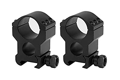 Monstrum Tactical Extra Wide High Performance Scope Rings | Picatinny/Weaver | 1 Inch Diameter | High Profile with See-Through Base by Monstrum Tactical