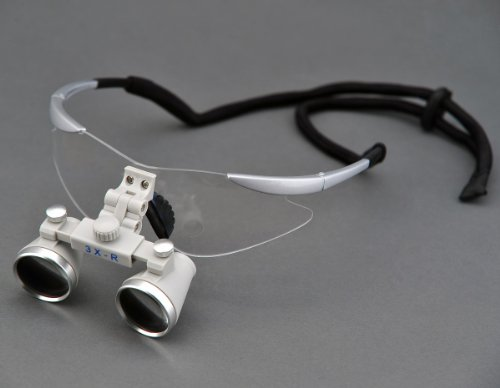 High Quality Ultra-Light Ch350 3.5X Binocular Dental Loupes Surgical Loupes Silver-Gray Colour Frame