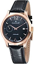 Thomas Earnshaw Blake Men's Automatic Watch with Black Dial Analogue Display and Black Leather Strap ES-8034-04