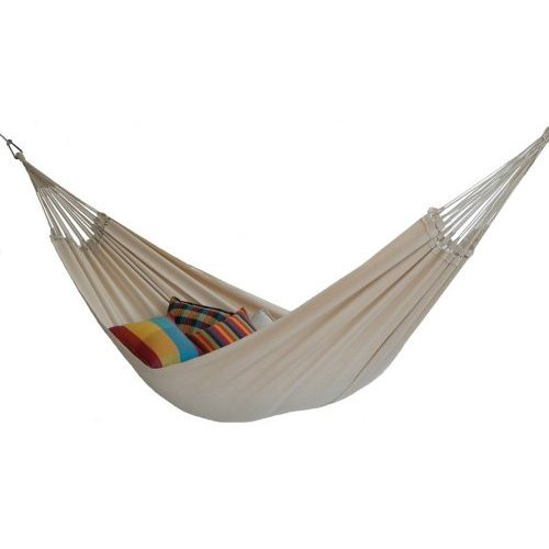 68″ x 101″ Carribico Tan Brazilian XXL Double-Size Cotton Hammock