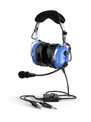 Faro G2-Anr Premium Anr Pilot Aviation Headset With Mp3 Input, Blue