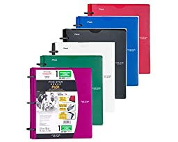 Five Star Flex NoteBinder, 1-Inch Capacity, Customizable Cover, 11.5 x 10.75 Inches, Notebook and Binder All-in-One, Assorted colores 6 Pack (72520)