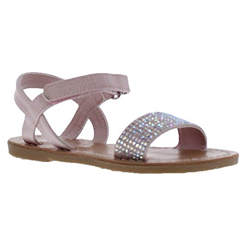 Kenneth Cole Reaction Groovy Sparkle Toddler's Multi Open Toe Sandal (Toddler/Little Kid), Dusted Pink, 10 M US Toddler