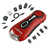 3 in 1 Survival Light--Dynamo/Hand Crank, Emergency Zone, No Batteries Required, Emergency AM FM Radio, Mobile Phone Charger ~ Emergency Zone