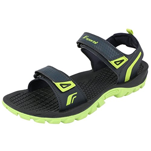 b54b258d4e287 Fsports Men s Ronnie Series Black Blue Synthetic Casual Sandals ...