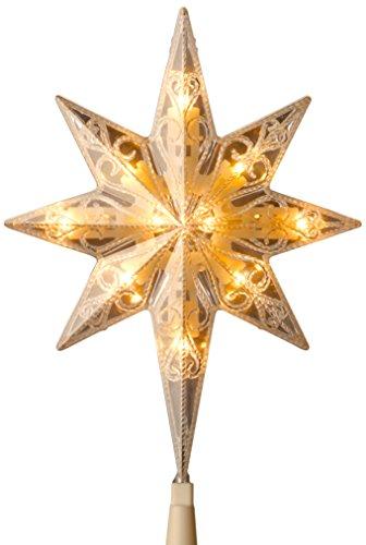National Tree Bethlehem Star Tree Topper, 11-Inch