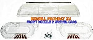 Bissell ProHeat 2X Front Nozzle and Swivel Caps (Right & Left) Kit For Models 8920, 8930, 8960, 9200, 9300, 9400, 9500 by Bissell