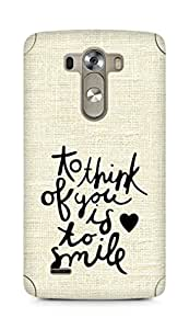 AMEZ to think of you is to smile Back Cover For LG G3
