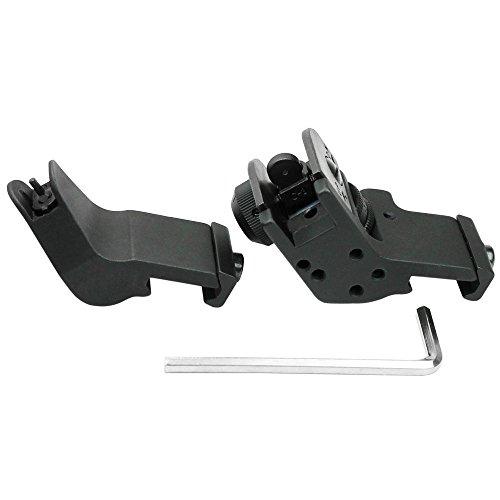 Details for Ledsniper®front and Rear 45 Degree Offset Rapid Transition Buis Backup Iron Sight Set from Ledsniper®(us seller)