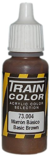Vallejo Train Weathering Basic Brown Paint, 17ml