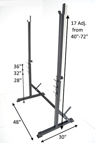 Squat Rack HD Power Weight Bench Racks 72