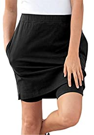 Women's Plus Size Stretch Cotton Skort
