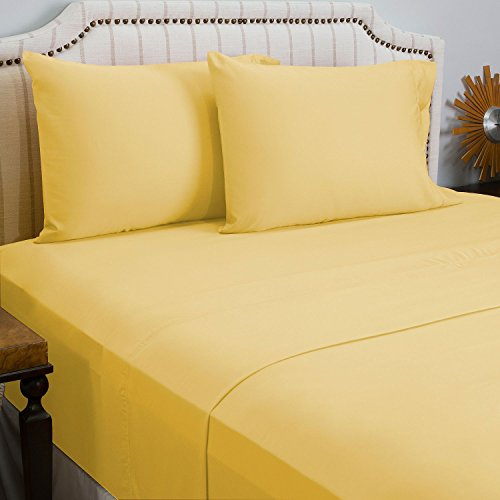 King Size Gray Cathay Home Microfiber Peach Skin Sheet Set with Triple Line Embroidered Pillow Cases