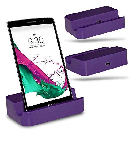 LG G4 Beat / LG G4s Station d'accueil de bureau avec chargeur Micro USB support de chargement - Purple - By Gadget Giant®