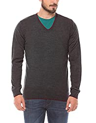 Prym Men's Acrylic Sweater (8907423022584_2011520905_Large_Charcoal Grey)