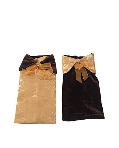 Sage & Co. Set of 2 Jacquard Wine Bags