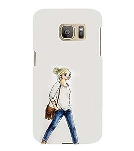 EPICCASE Demin girl Mobile Back Case Cover For Samsung Galaxy S7 Edge (Designer Case)