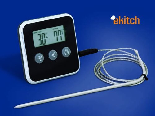 eKitch digital food probe thermometer and timer