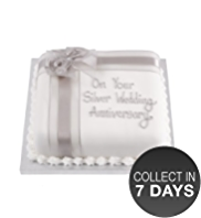 Silver Fruit Celebration Cake