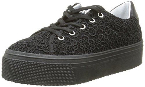 No BoxAlma E16 - Sneaker Donna , Nero (Noir (Dentelle Flower Black)), 37