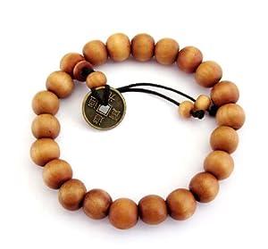 Tibetan Buddhist 10mm Wood Beads Japa Mala Meditation Wrist Bracelet