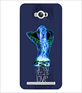 PrintDhaba Quote D-3058 Back Case Cover for ASUS ZENFONE MAX ZC550KL (Multi-Coloured)