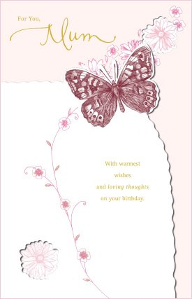 Luxury Hand-finished Mum Birthday Card