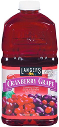 Langers Cranberry Grape Juice, 64-Ounce (Pack of 8)