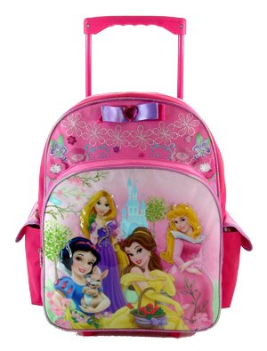 Walt Disney Princess Large Rolling Backpack, Size approximately 16″