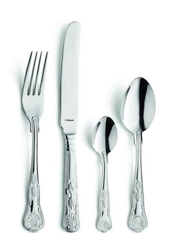 Amefa Monogram Kings Cutlery Set Stainless Steel 58 Piece