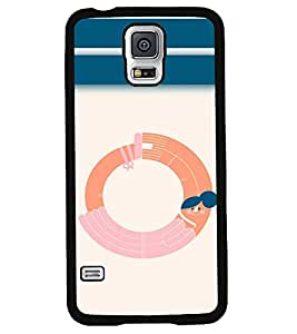 PrintVisa Metal Printed Alphabet Designer Back Case Cover for Samsung Galaxy S5 G900I-D4865